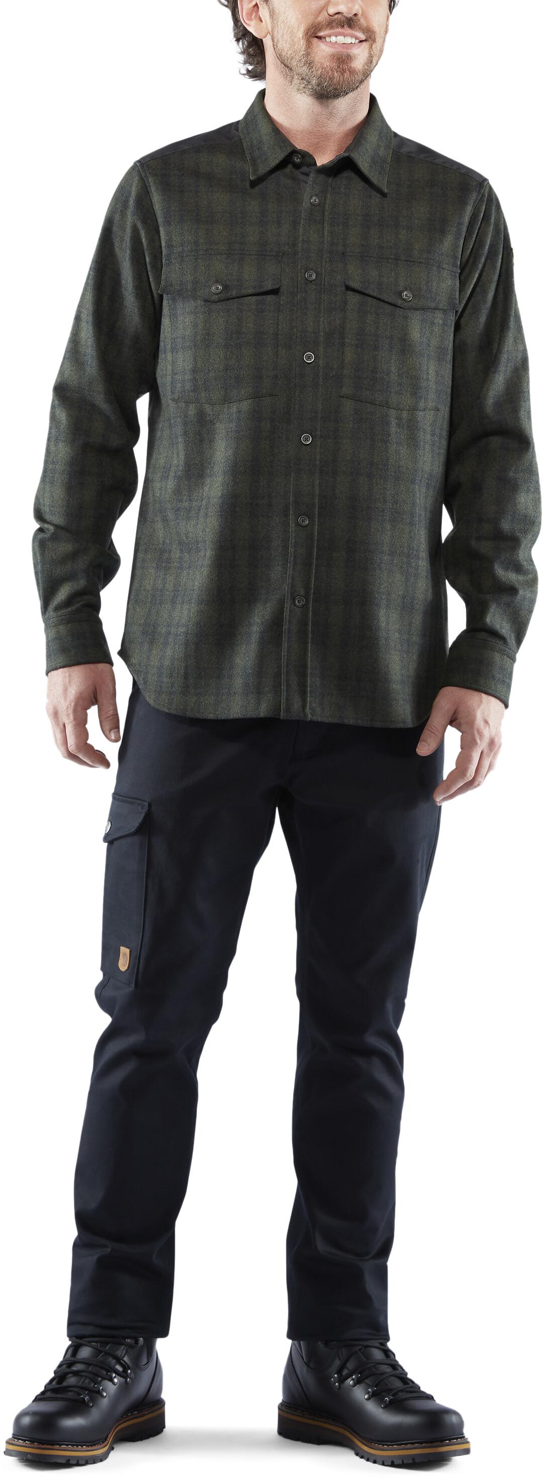 gute Qualität toller Wert 100% Zufriedenheit Fjällräven Övik Re-Wool Shirt LS Men dark grey-olive